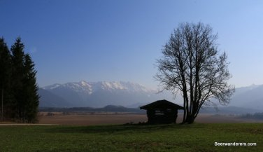 hut with mountain views
