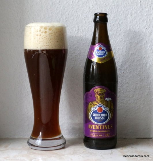 dark wheat beer with bottle