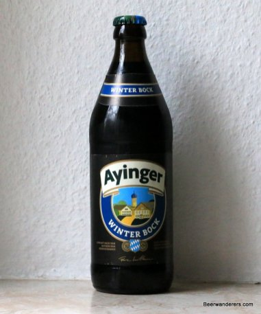 bottle of ayinger winter bock