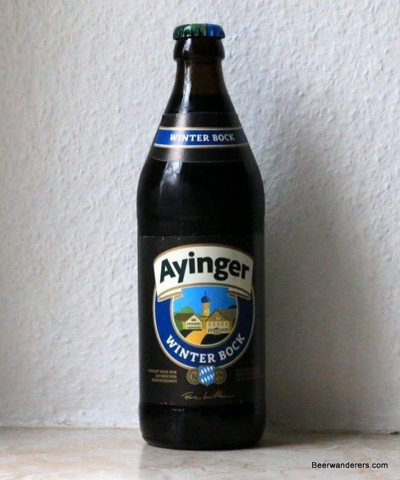 bottle of ayinger winter bock