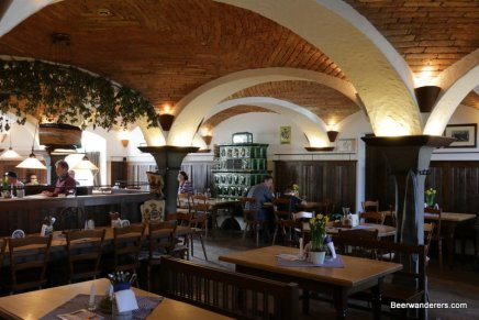 vaulted ceiling in old pub