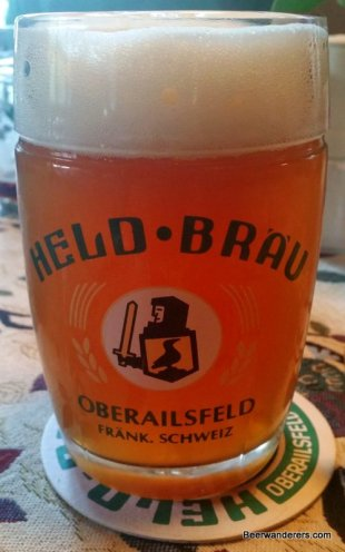 unfiltered wheat beer in mug