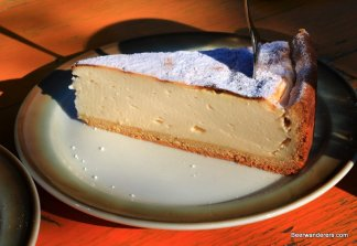 cheese cake on plate