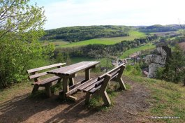 picnic bench with view