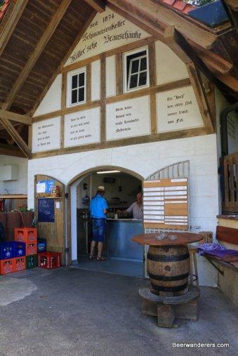 half-timbered brewery