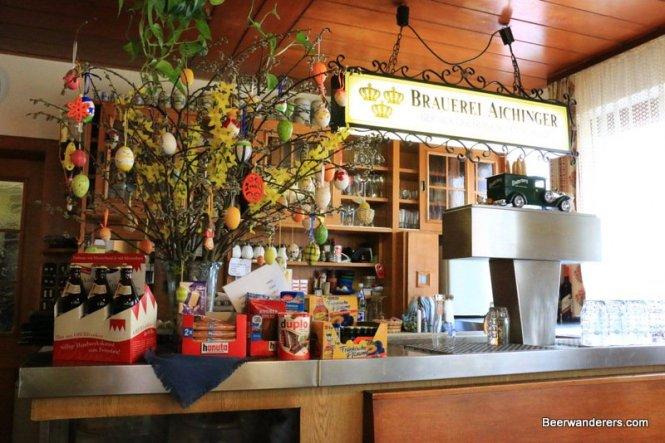 bar area of pub
