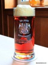 deep amber beer in mug