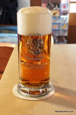 deep golden beer in mug