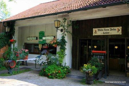 biergarten food and beer sales area