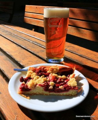 cake and beer