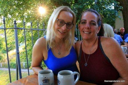 two women in biergarten