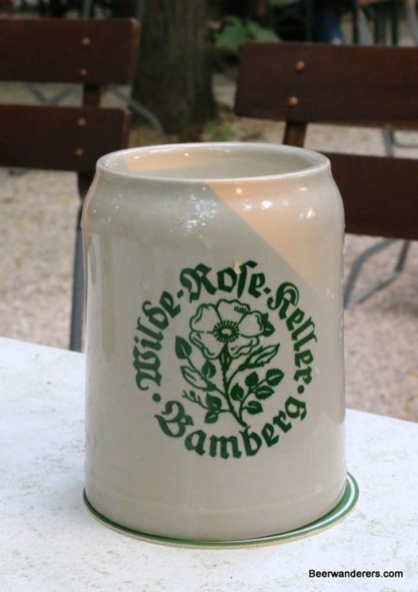 beer in ceramic mug
