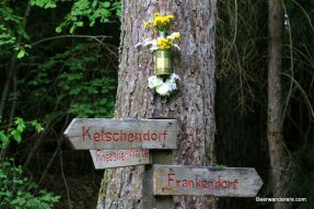 old wooden hiking signs
