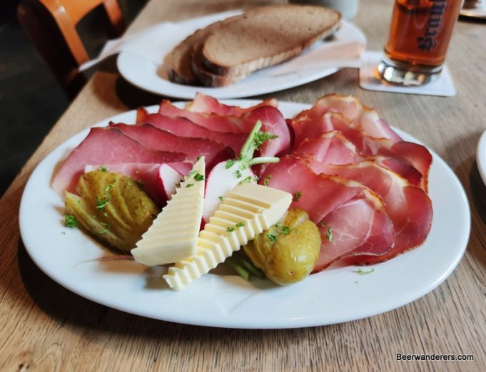 smokey ham on plate