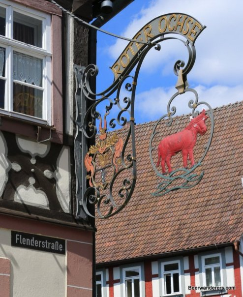 red ox brewery sign