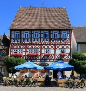 half-timbered building