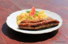 bratwurst and potato salad