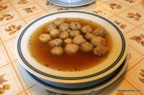 soup with dumplings