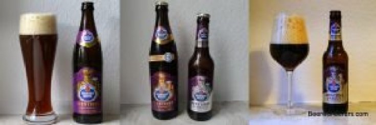 comparison photos of dark wheat beer and ice bock version