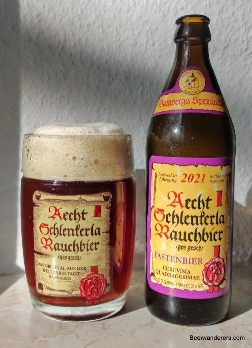 beer in logo mug with bottle