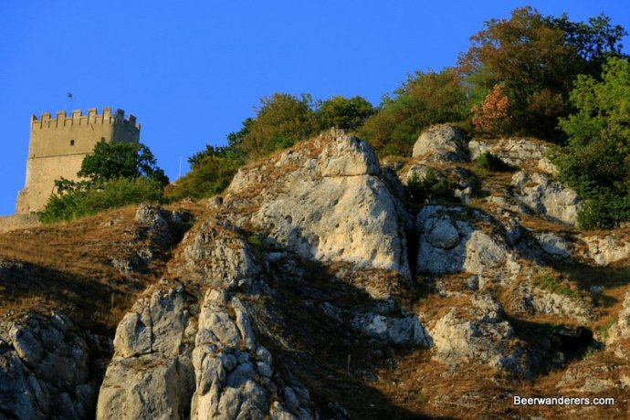 cliffs with castle ruin
