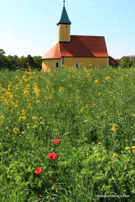 chapel and wildflowers
