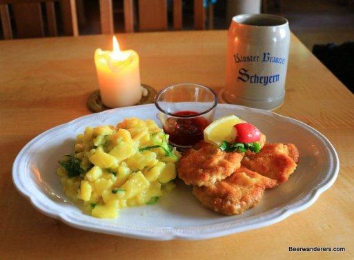 schnitzel with potato salad
