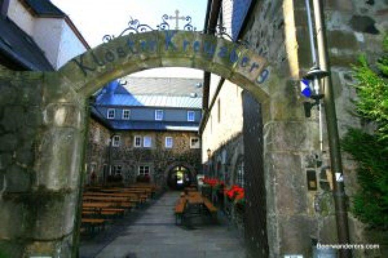 stone beergarden entrance