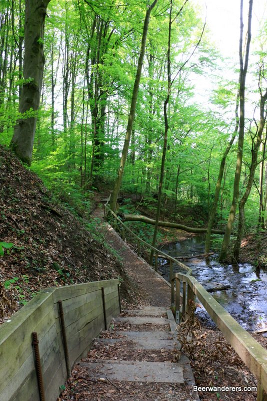 stairs down to waterfall