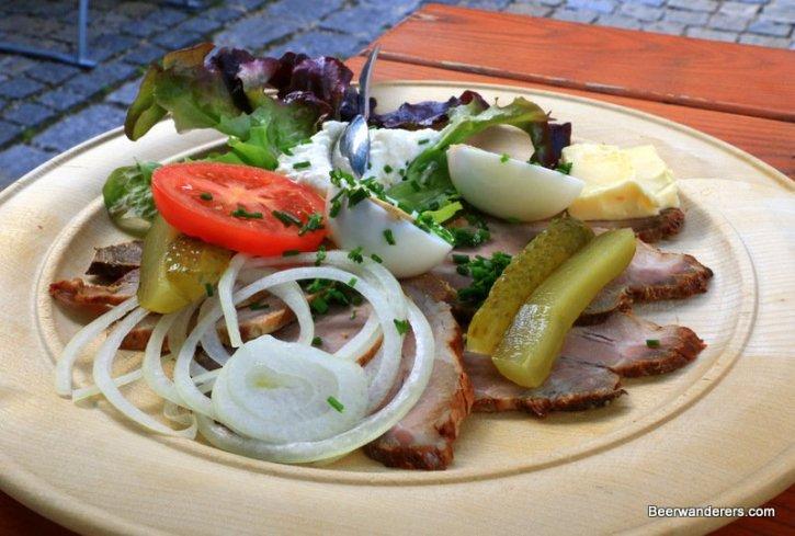 cold roast port on plate
