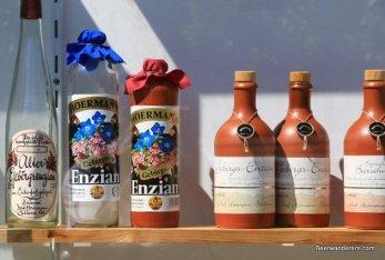 schnapps in bottles