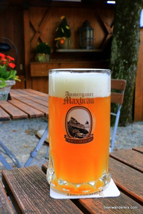unfiltered beer in logo mug