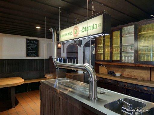 tap area of pub