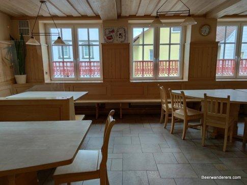 restaurant interior in white wood