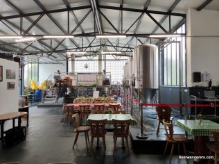 brewery interior with seating