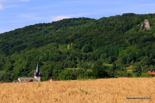 church steeple in distance