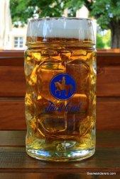 golden beer in logo mug