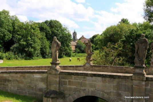 stone bridge with statues