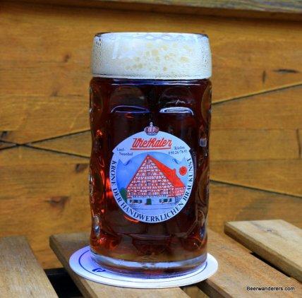 dark beer in logo mug