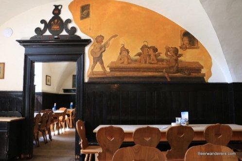 mural in old bavarian pub
