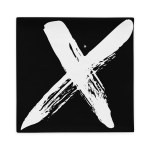 """Couch pillow case """"black X"""" high quality"""