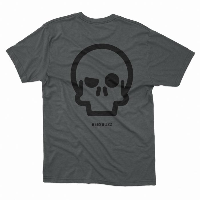 BC skull T shirt men DARK HEATHER 2