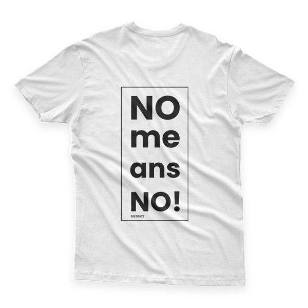 """""""No means no"""" men's t shirt high quality"""