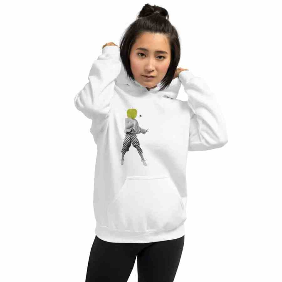 """Women hoodie """"Apple face"""" high quality"""
