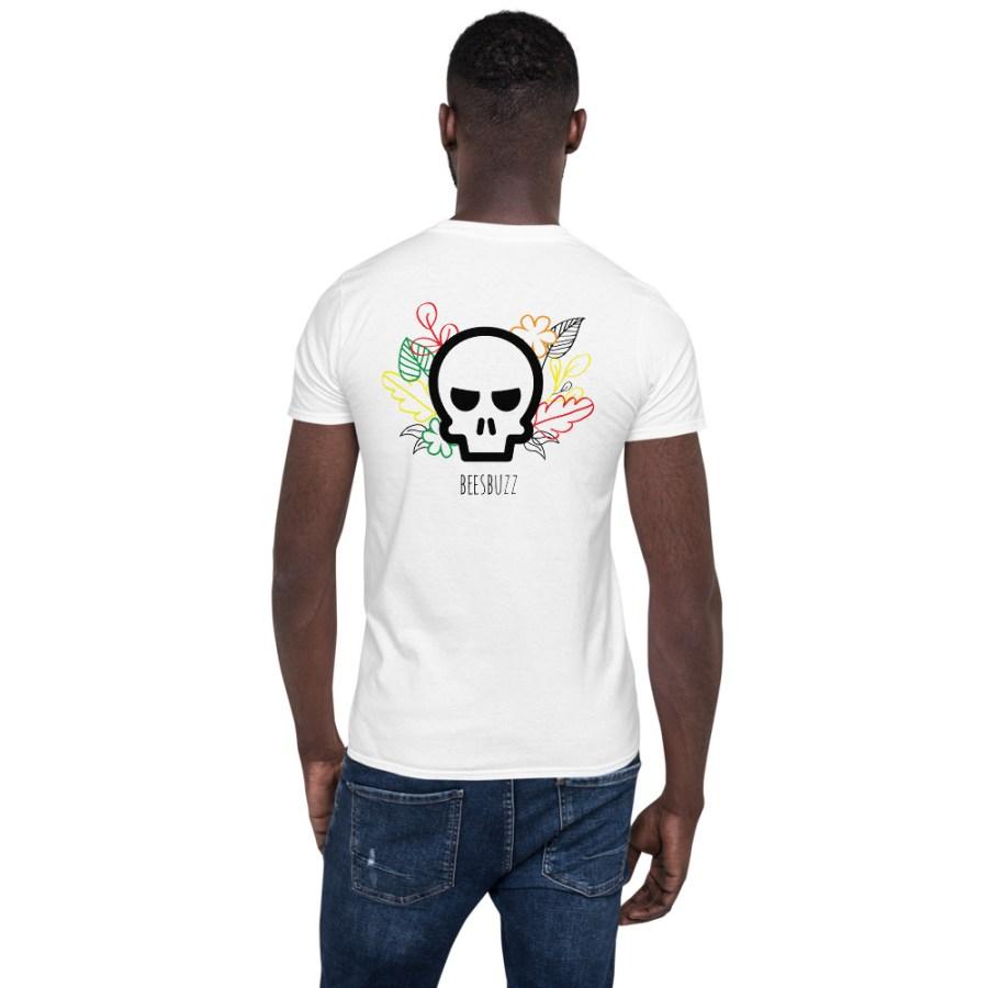 """Men's T shirt """"Skull & flowers"""" high quality"""