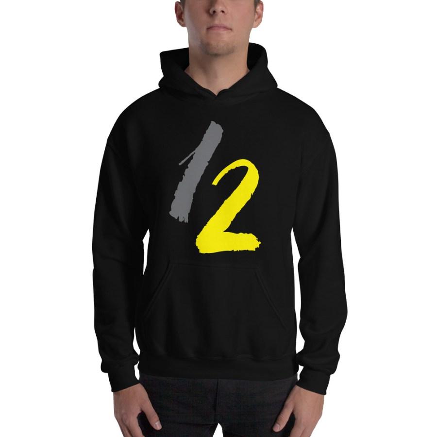 unisex heavy blend hoodie black front 6148c0af07159