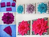 DIY 3D Felt Flower Wall Art | BeesDIY.com