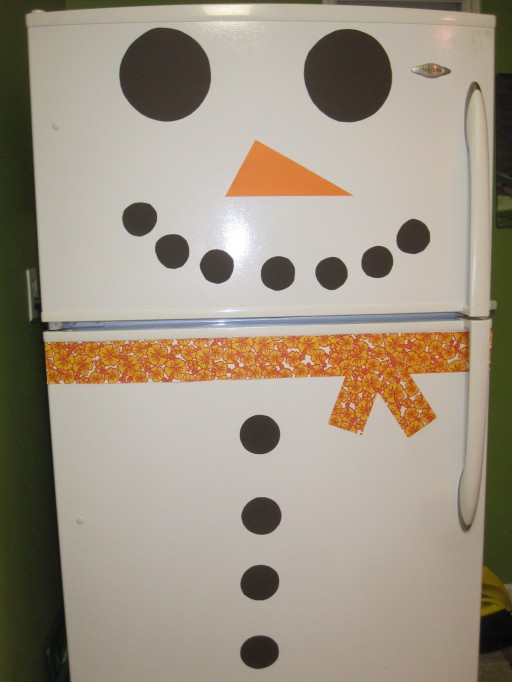 How To Decorate Snowman Refrigerators