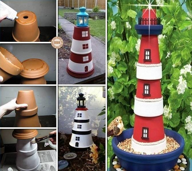 DIYclay-pot-lighthouse