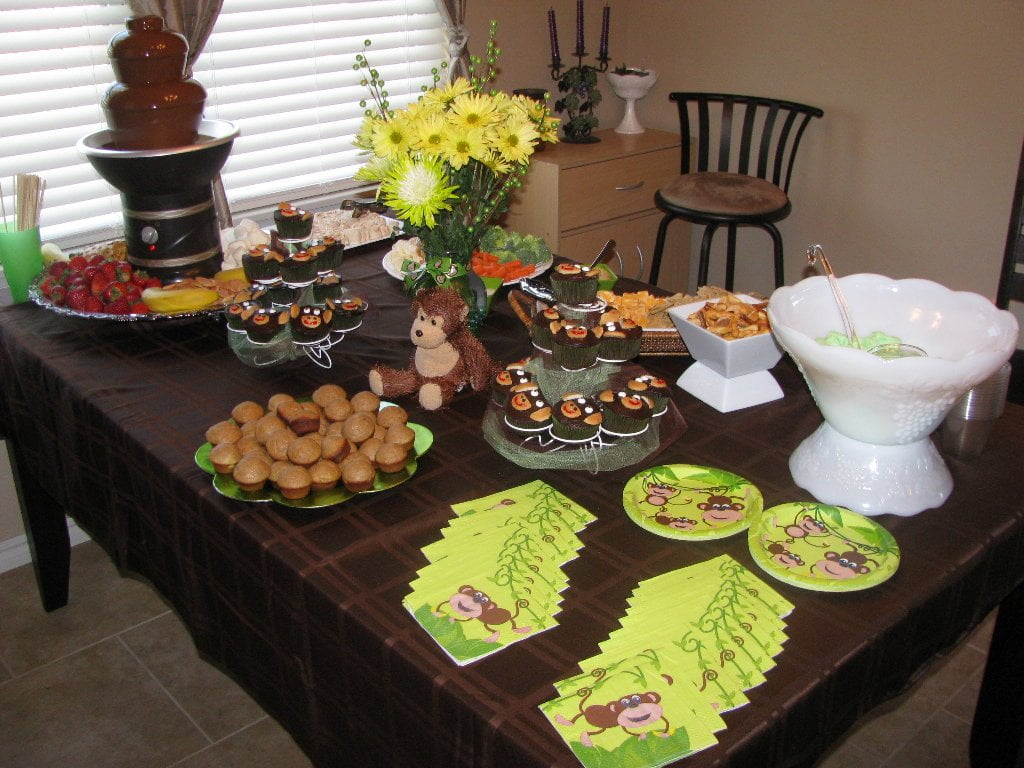 Monkey Baby Shower Decorations Ideas